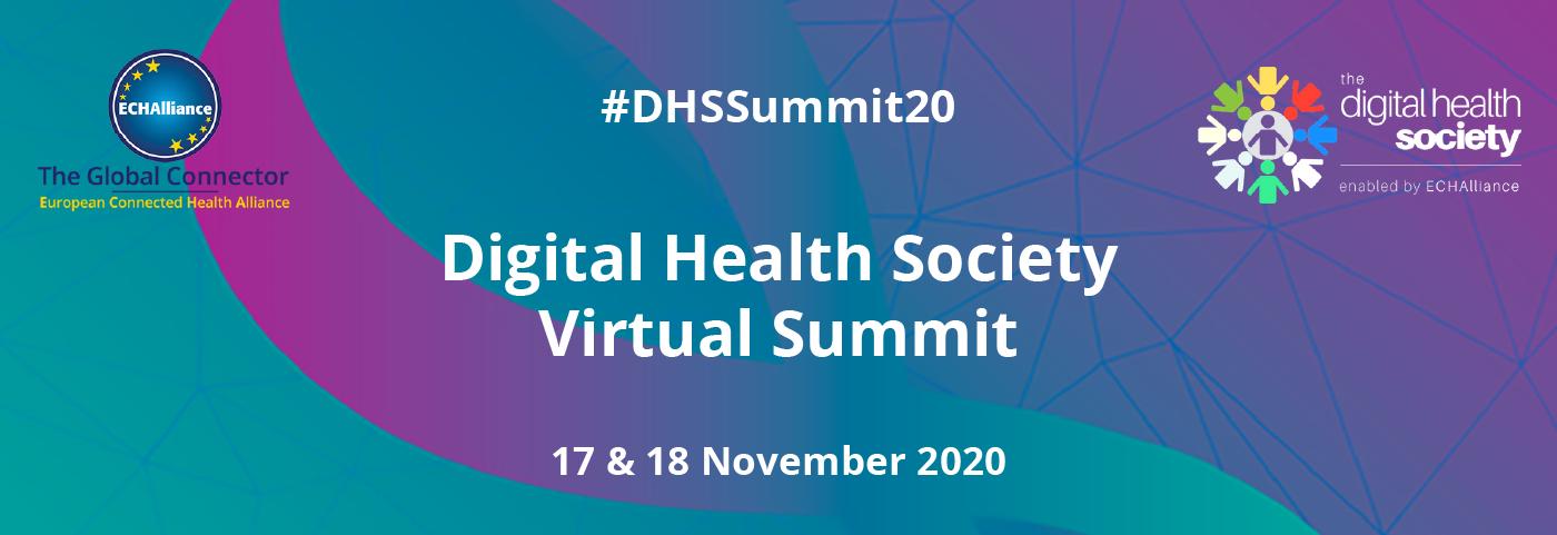17 & 18 November 2020Digital Health Society_Virtual Summit#DHSSummit20_MIT_Web 1400 x 480px